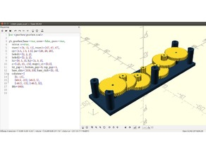 gearbox generator for OpenSCAD