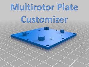 Multirotor Plate Customizer
