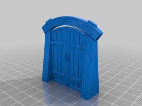 Wood Dungeon Door - Hinged, Open/Closed, & Slide In
