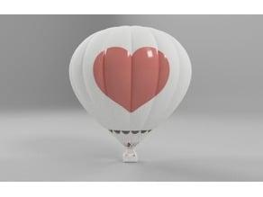 Desktop Hot Air Balloon with Heart