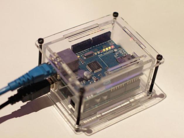 Laser cut ethernet shield arduino enclosure by teabot
