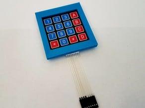 4x4 Keypad Housing / 4x4 Tastatur Gehäuse
