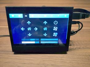 7'' LCD Display Case USB with Raspberry Pi 3B+ mount