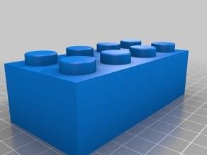 Lego 3001 2x4 Brick Scaled x3