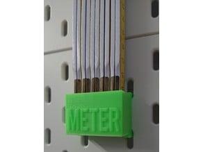 Skadis Halter für Meterstab (Zollstock)