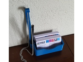 Business Card holder with pen