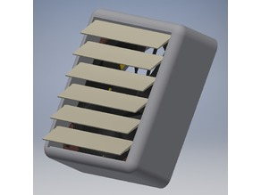 120mm fan housing with louvers