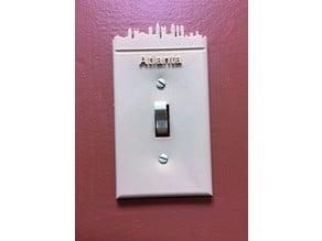 Atlanta skyline switch plate