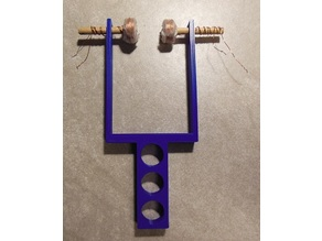 Coil Holder for two Coils wrapped with Magnet Wire