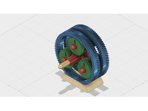 Double planetary gear