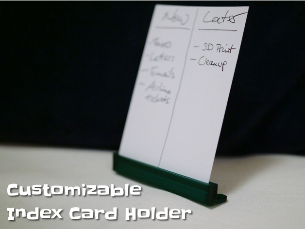 thingiview - Index Card Holder