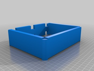 Covered stackable router/modem rack with lid