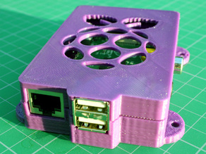 Raspberry Super-Pi case with mounting ears #30DoC Day 20