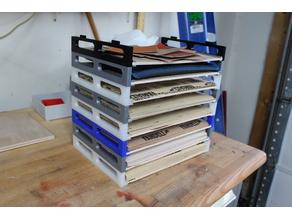 Sandpaper sheet organizer