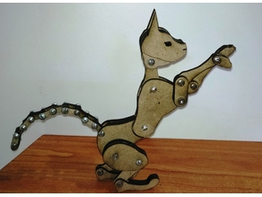 Articulated cat laser cut