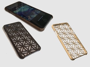 Very thin iPhone 6/6S case with tactile feel - Flower of Life design