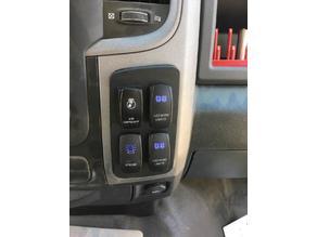 Ram 1500 Truck Dash Switch Mount