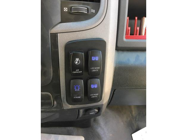 Ram 1500 Truck Dash Switch Mount by Ironstrom - Thingiverse
