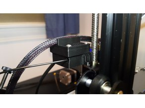 CR-10S Filament Sensor Cable Clip Piggyback Cover
