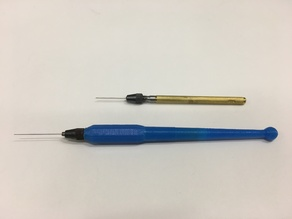 Ergonomic Grip for Needle Collet