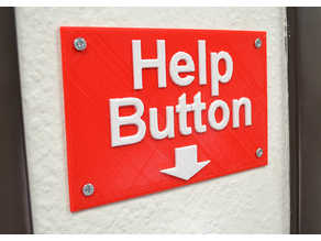 Help Button Sign