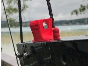 Whisper foiling catamaran ride height adjustment knob