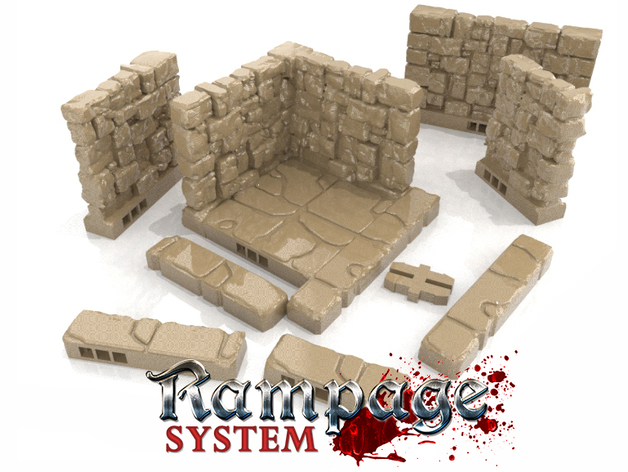 Rampage Dungeon Tiles - Basic Set by Printablescenery
