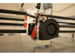Hypercube remix of BOWDEN X-CARRIAGE MOUNT FOR E3D V6