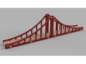 Wooden train Brio suspension bridge