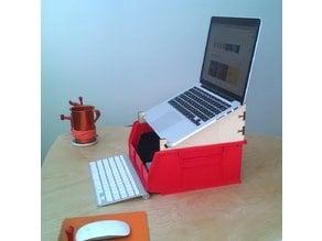 Storage Bin Laptop Stand