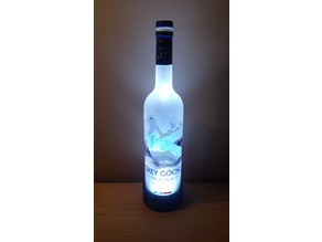 Grey Goose Vodka Bottle LED Lamp Base