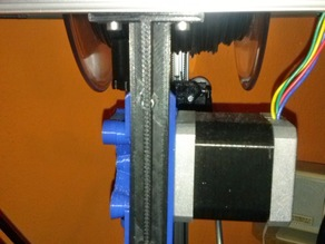 Kossel mini extruder stand and filament holder