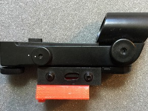Vixen / Synta dovetail to red dot finder adapter
