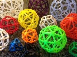 Catalan Wireframe Polyhedra