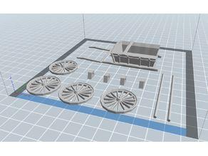 cart axle and wheel hubs
