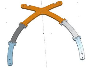 Cross Frame Anet A8 - Reinforced Joints