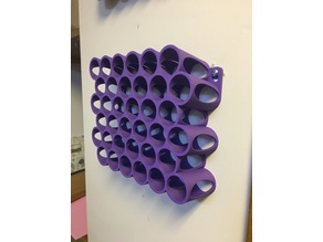 Vallejo Style Wall Mount Paint Rack