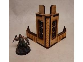 Nordgrim tower corner #6 for 3mm laser cut MDF