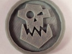 40mm X 4mm Token - Marker of Orc 40K Bits