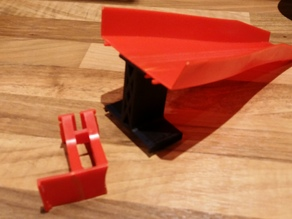 Hot Wheels jump ramp support