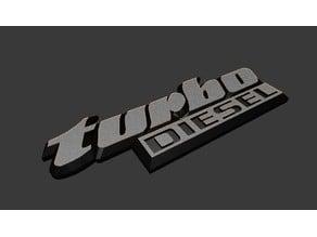 VW turbo diesel emblem