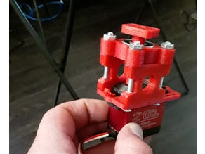 Servo Block 3d printed! Fits MG995/MG996R, other similar servos. 608 bearing required.