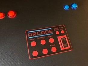 Arcade Machine Directions Card