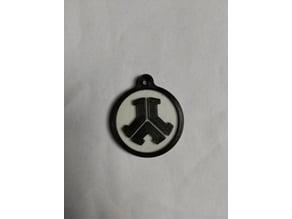 Defqon 1 keychain dual colour