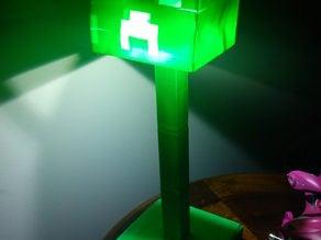Creeper Desk Lamp (MineCraft)