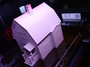 Swedish house, model (1:87, OpenRailway)