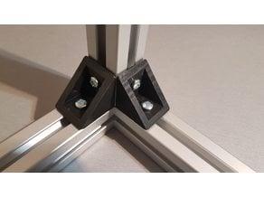 Corner bracket for 30x30 aluminum extrusion profiles