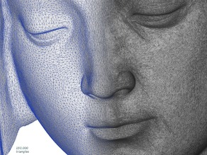 Michelangelo's Pietà detail, reduced to 150k faces