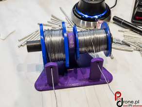 Stand for two solder wire reels