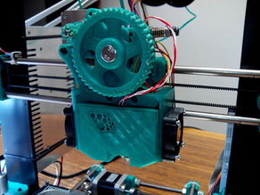 Double 40mm fan mount for Buddaschnozle on a Greg Wade extruder.